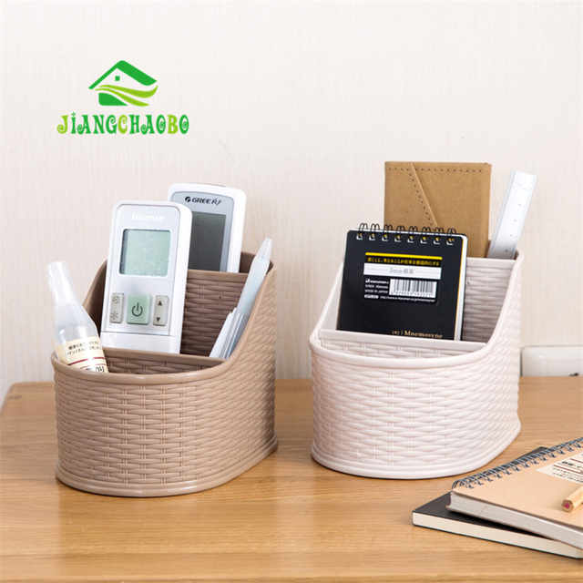 Jiangchaobo Bamboo Woven Coffee Table Remote Control Storage Box Desktop Cosmetics Finishing Bo Bathroom Dresser Vanity