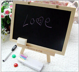 New MDF White Framel Slate Small Blackboard For Nots Office Supplier 20*30cm Home Decorative Chalk Board OWS006