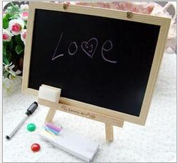 Nieuwe Mdf Wit Framel Slate Kleine Blackboard Voor Nots Kantoor Leverancier 20*30Cm Home Decoratieve Krijt Board OWS006
