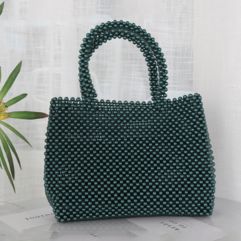 2019 Fashion Casual Dinner Exposure Beaded Bag Simple Summer Lady Bag