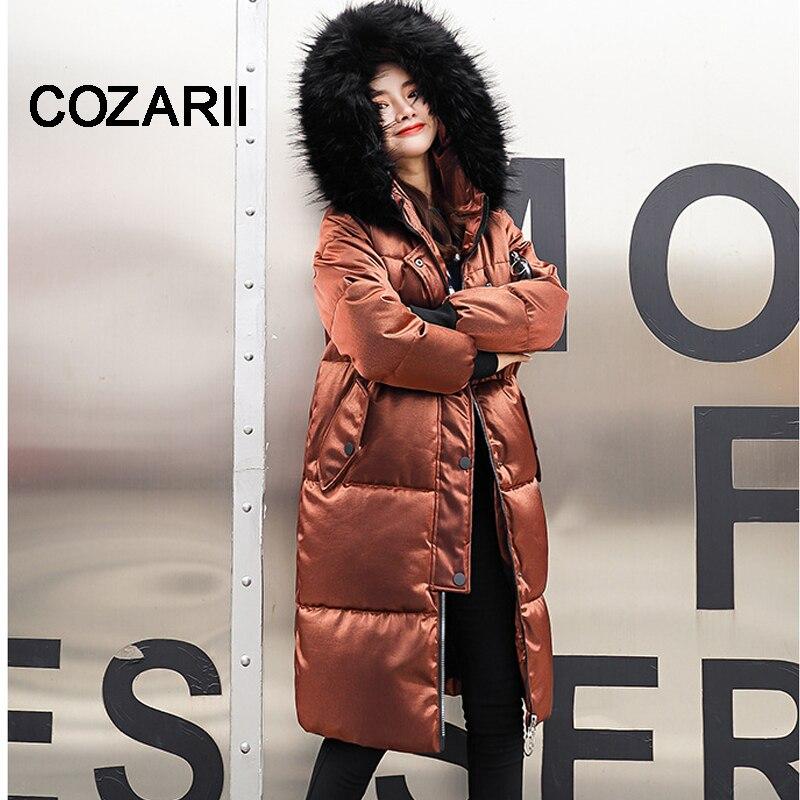 COZARII 2018 New warm Autumn Fashion Women coat thick hoody winter coat slim women   parka   warm womens Winter jacket Women Coat