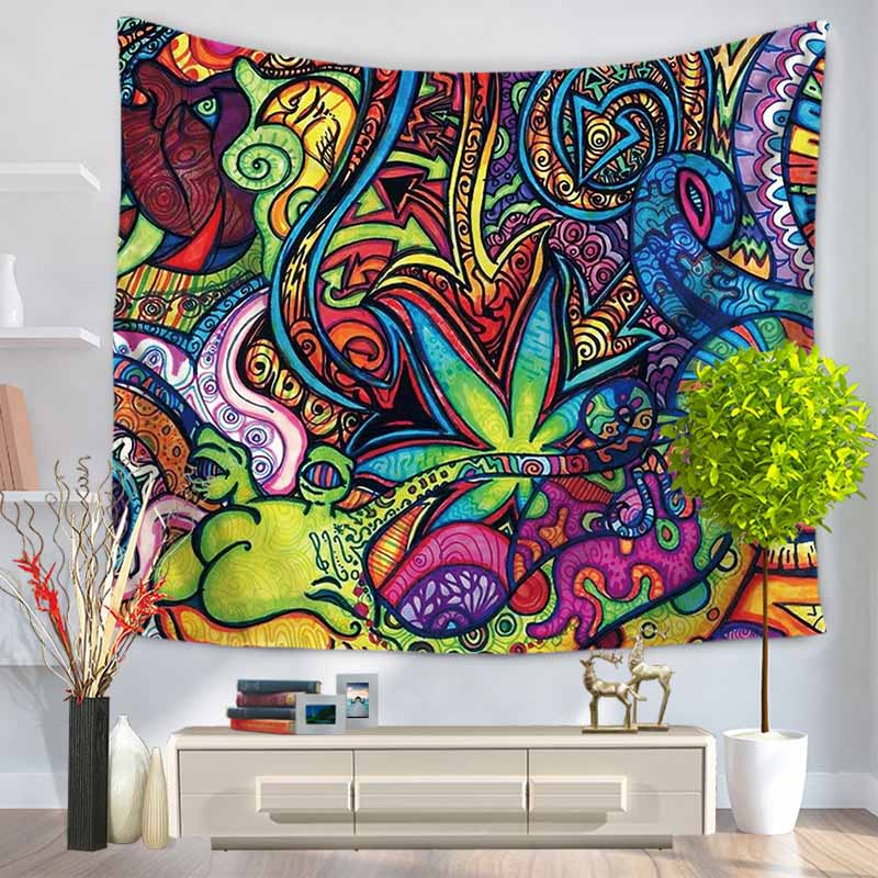 2 Sizes Colorful National Style Printed Tapestry Indian Mandala Wall Hanging Tapestries Carpet Beach Blanket Yoga Mat Home Decor