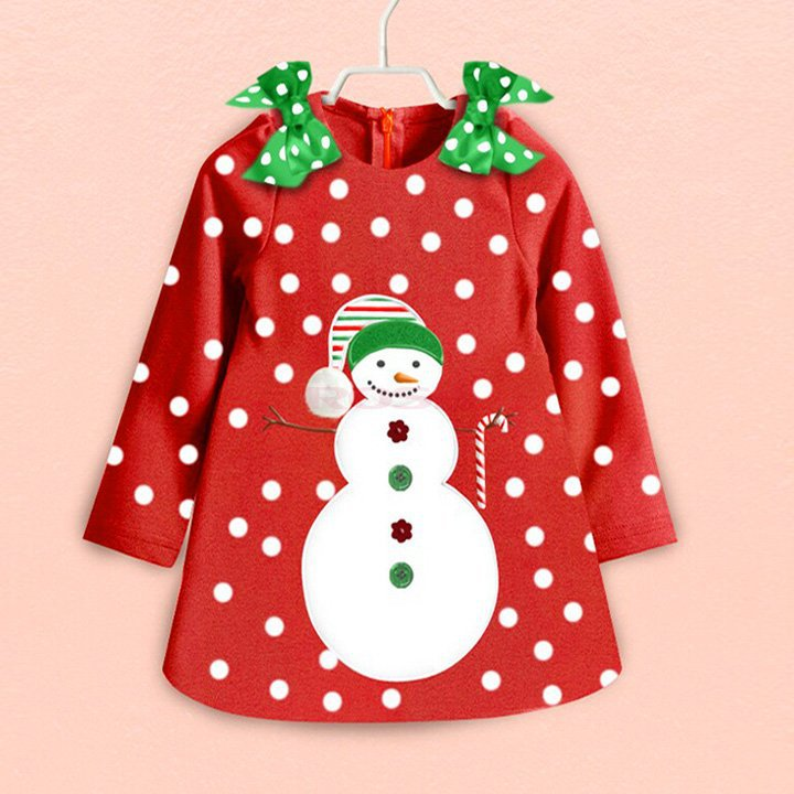 christmas gift dress children clothing new 2017 fashion kids girls clothes baby girls dot princess dress