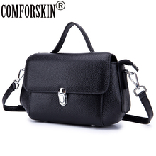 COMFORSKIN Luxurious 100% Cowhide Leather Women's Messenger Bags Bolsas Feminina New Arrivals Locking Style Cross-body Bags 2018