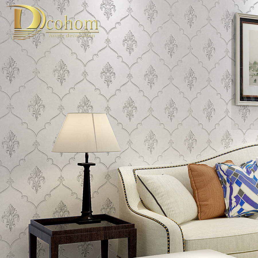 Simple Luxury European Style Beige Black Damask Wallpaper For Walls Bedroom Living room Sofa Home Decor Modern Wall paper Rolls modern wallpaper for walls black white leaves pattern bedroom living room sofa tv home decor luxury european wall paper rolls