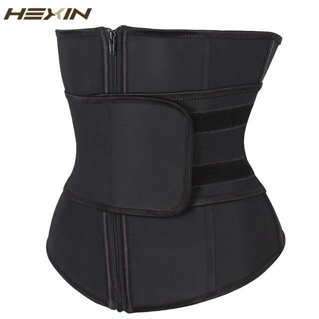 HEXIN בטן חגורה גבוהה דחיסת רוכסן בתוספת גודל לטקס מותניים Cincher מחוך Underbust גוף Fajas זיעה מותניים מאמן