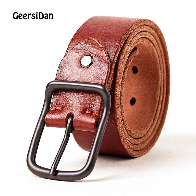 GEERSIDAN 2018 nouveaux hommes de top qualité boucle ardillon hommes ceinture  véritable hommes en cuir de mode casual ceinture cowskin noir ceintures pour  ... 552d8998a62
