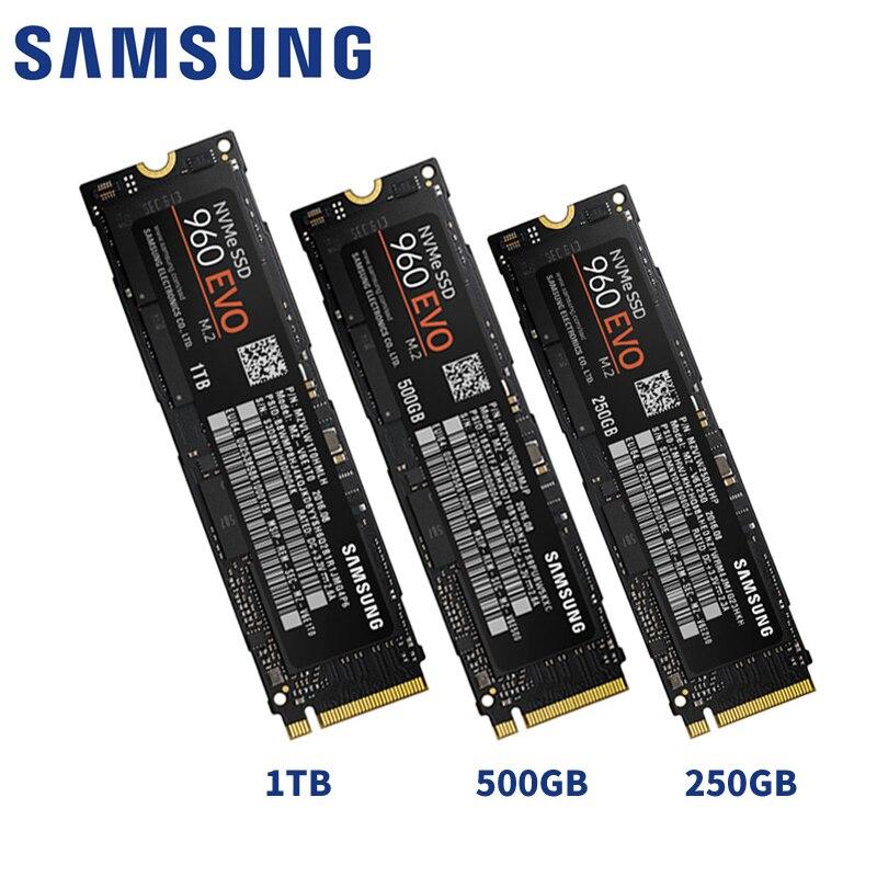 SAMSUNG 960 EVO 960EVO 250GB 500G 1TB NVMe M.2 SSD PCIe 3.0x4 PC Desktop Laptop Server Internal Solid State Dribe NVMe SSD