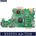 KEFU X555DG Laptop motherboard for ASUS X555YI X555YA original mainboard 4G-RAM A4-7210 R5-M320