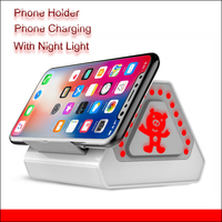 2000 mAh de Carregamento Suporte para Telefone Celular Com crianças Mesa da criança Noite Suporte Do Telefone para Samsung S7 S8 luz Xiaomi iPhone X 8