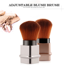 Protable 1Pcs Retractable Brush Small Telescopic Cosmetic Face Blusher Adjustable Powder Foundation Blush for Travel