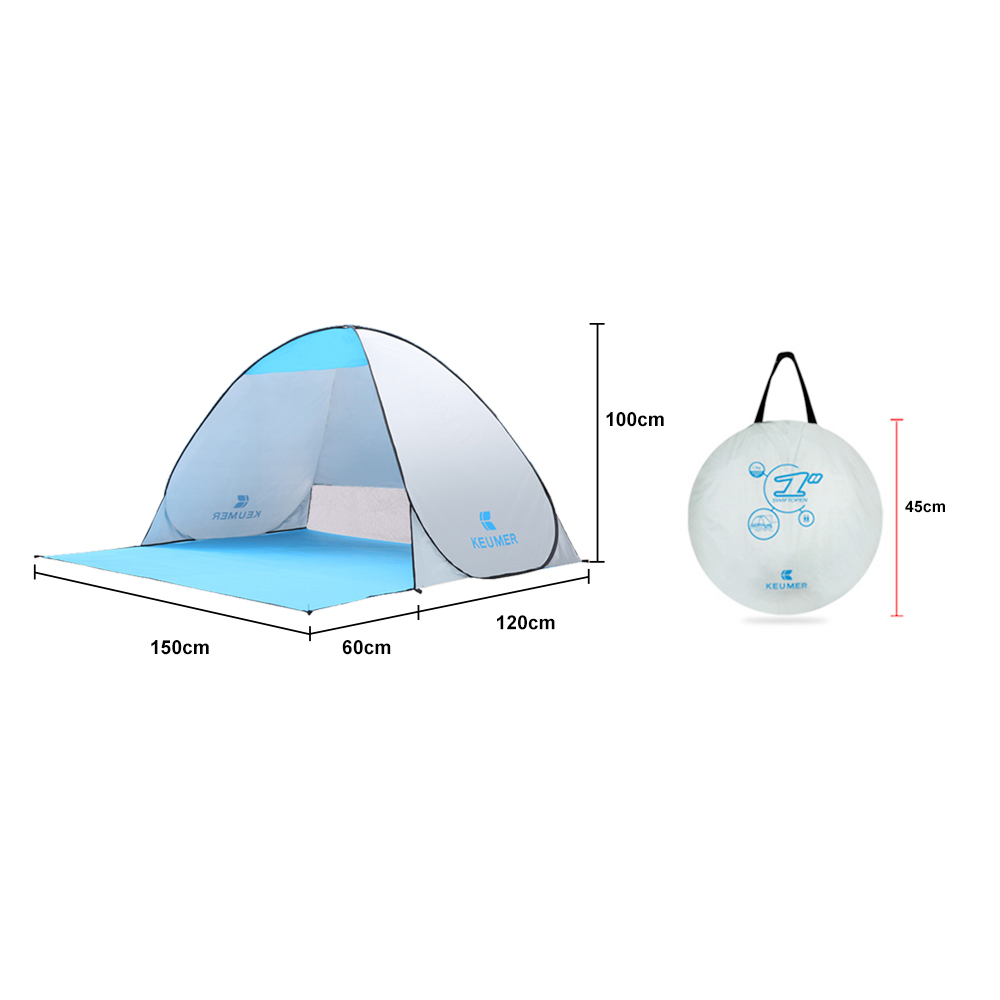 Automatic Camping Tent Ship From RU Beach Tent 2 Persons Tent Instant Pop Up Open Anti UV Awning Tents Outdoor Sunshelter 4