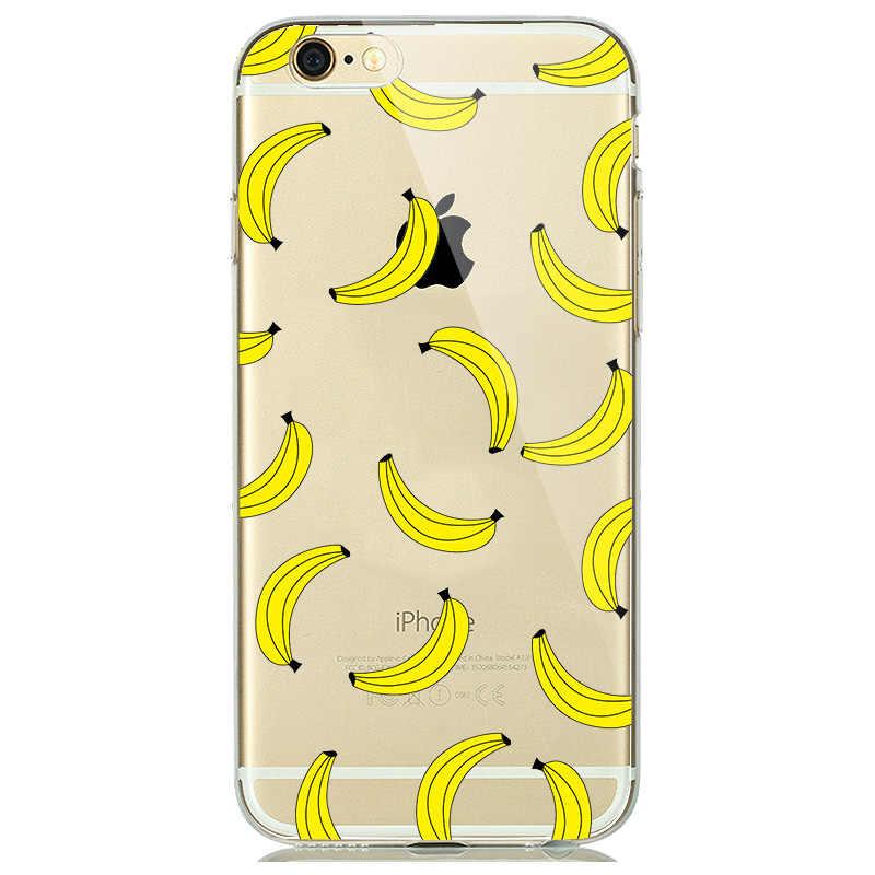 مضحك لطيف فلامنغو شبح الحال بالنسبة كوكه آيفون 7 8 Plus 6 6s 5 5s SE لينة غطاء من السيليكون يونيكورن الفاكهة الموز غطاء Fundas جرلي