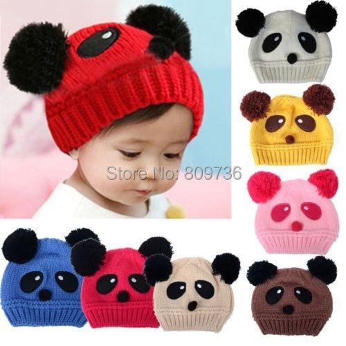 1 UNID Animal Encantador de la Panda Del Bebé Sombreros de Punto Gorras  Kids Boy chica Crochet Beanie Sombreros Gorra de Invierno Para Niños  Caliente de La ... 1adcc15a4e8