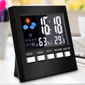 New Digital Thermometer Hygrometer Colorful LCD termometer Clock Alarm Snooze Function Calendar Weather Forecast Display