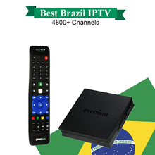 Ipremium I7 Smart TV Box DVB-S2 Satellite Receiver Brazil IPTV Free 1 year for Chile Brazil Set Top Box PK azamerica receptor