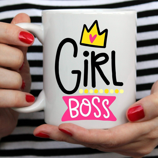 Girl Boss Mugs Beer Travel Coffee Tea Cups Home Decor Novelty Friend Gift Birthday Gifts