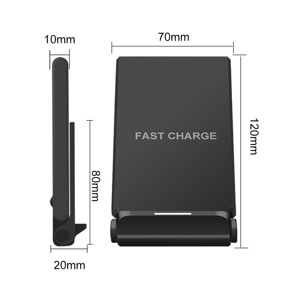 Samsung S9 S8 Plus Xiaomi mix 2s üçün iPhone X 8 XS MAX XR 10W Qi - Cib telefonu aksesuarları və hissələri - Fotoqrafiya 5