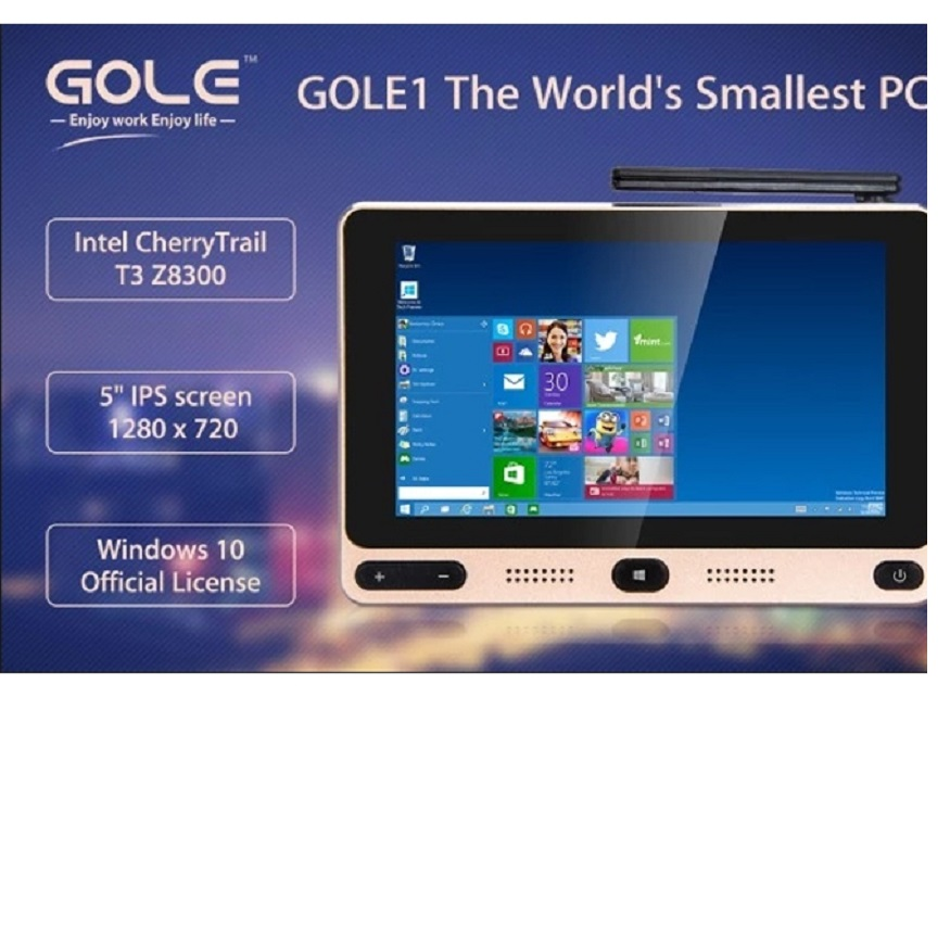 Gole gole1 5 pulgadas mini pc intel cereza z8300 trail quad-core Windows 10/Andr