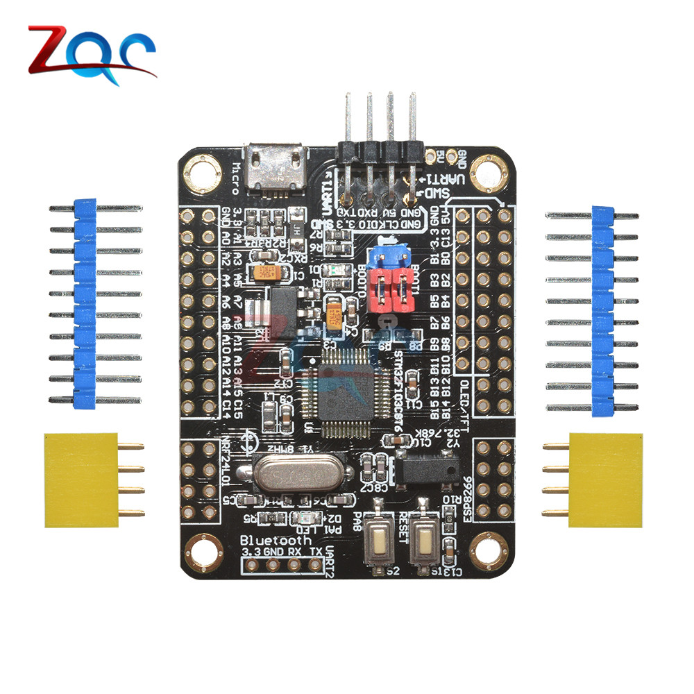Mini STM32F103C8T6 ARM System Development Board STM32 51 Core Board Module WIFI ESP8266 NRF24L01 Interface With Cable sim868 development board module gsm gprs bluetooth gps beidou location 51 stm32 program