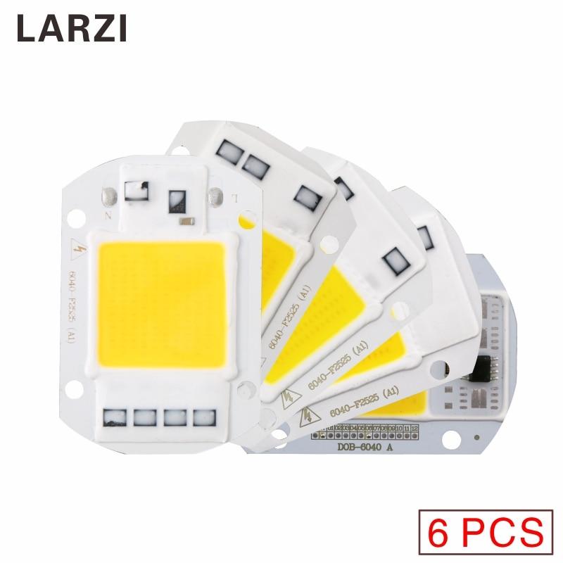 LARZI 6PCS AC220V LED COB Chip 10W 20W 30W 40W 50W 110V No need driver Smart IC bulb lamp For DIY LED Flood Light Spotlight in LED Bulbs Tubes from Lights Lighting