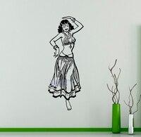 Indian Dances Wall Vinyl Decal Belly Dance Vinyl Sticker Folk Dances Home Wall Interior Bedroom Decor
