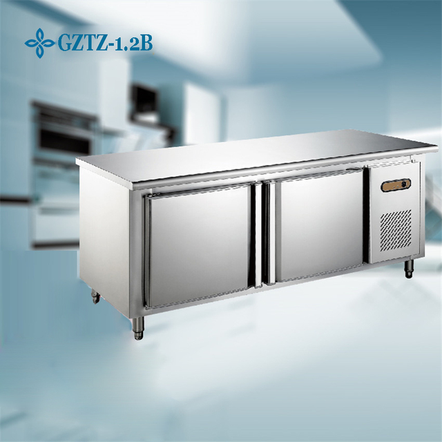 1PC Stainless Steel Kitchen Under Counter Worktop Commercial Cabinet  Refrigerator Freezer Cooler Storage Fridge Machine