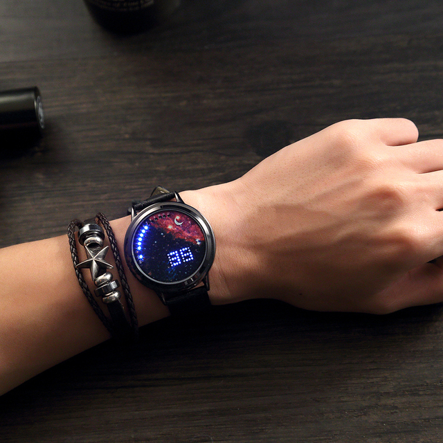Creative Watch With Galaxy Design Dial