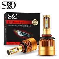 2Pcs 9005 HB3 Car LED Headlight Bulb 6500K 8000lm Automobile Fog Lamps All In One Design