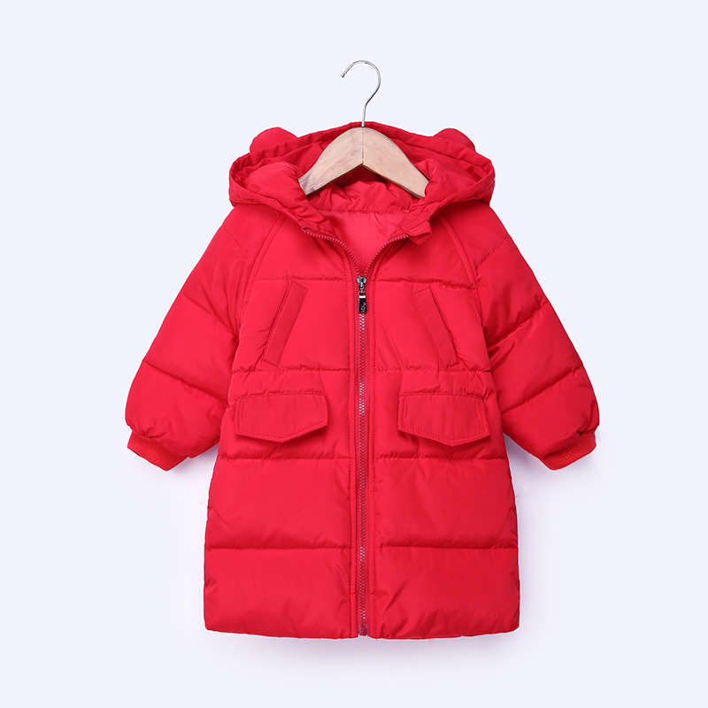 New Down Jacket Hot Sale Baby Girls Boys Kid Clothes Solid Fashion Hooded Down Loog Sleeve Jacket Winter Warm Outwear Long Coat new fashion warm winter spring jacket men long sleeve zippers olive green and navy outwear loose men pakas a3744