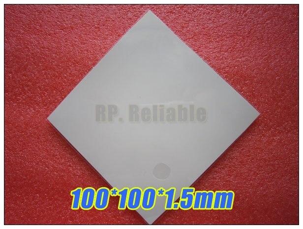 100% QualitäT 100*100*1,5mm Weiches Silikon-thermische Pad/thermische Pads/wärme Conductive Für Kühlkörper Laptop/ic/chipset/chip/vga Gpu Lücke