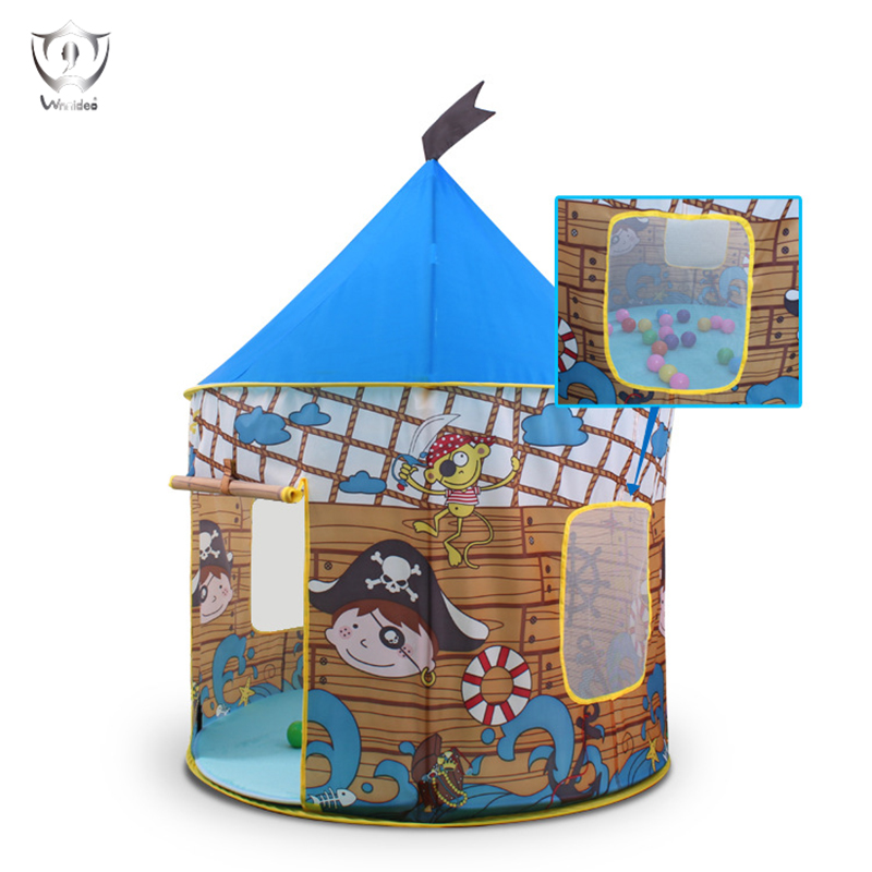Foldable Play House Tent Blue Portable Outdoor Indoor Toy House Children Tent Pirate Game Children Tent ZS7-193