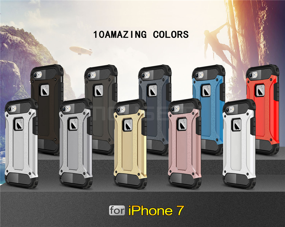 Silicone Luxury Shockproof Hard PC TPU Armor iPhone Case 10