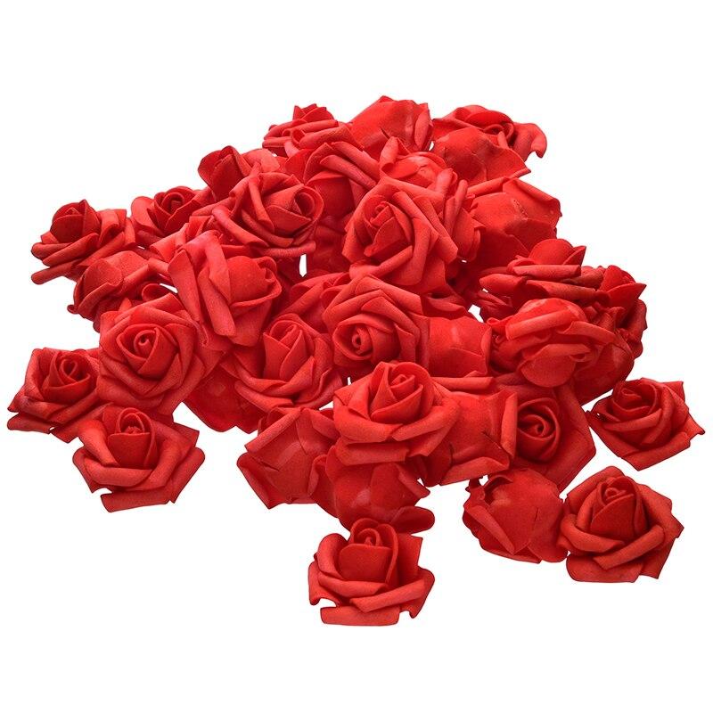 4,5 см 50 шт./лот искусственный цветок голову пенополиэтилен Роза Главная Свадебные украшения DIY Craft Скрапбукинг венок поддельные декоративные розы