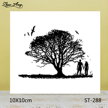 ZhuoAng Couples Tree Bird Clear Stamps For DIY Scrapbooking/Card Making/Album Decorative Silicon Stamp Crafts zhuoang landscape painting clear stamps for diy scrapbooking card making album decorative silicon stamp crafts