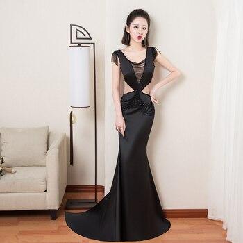 Vestidos Largos De Noche 2018 Con Hermosas Cuentas De Clase Sexy Halter Club Vestidos De Fiesta Sin