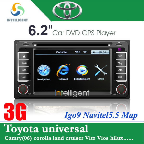 For TOYOTA camry corolla land cruiser Vitz Vios DVD with 3G GPS TV Bluetooth RDS Radio USB SD in dash 2 din car DVD car radio