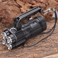 UltraFire UF T90 2000lm 2 Mode Memory Crown Head Flashlight Black 4 X 18650