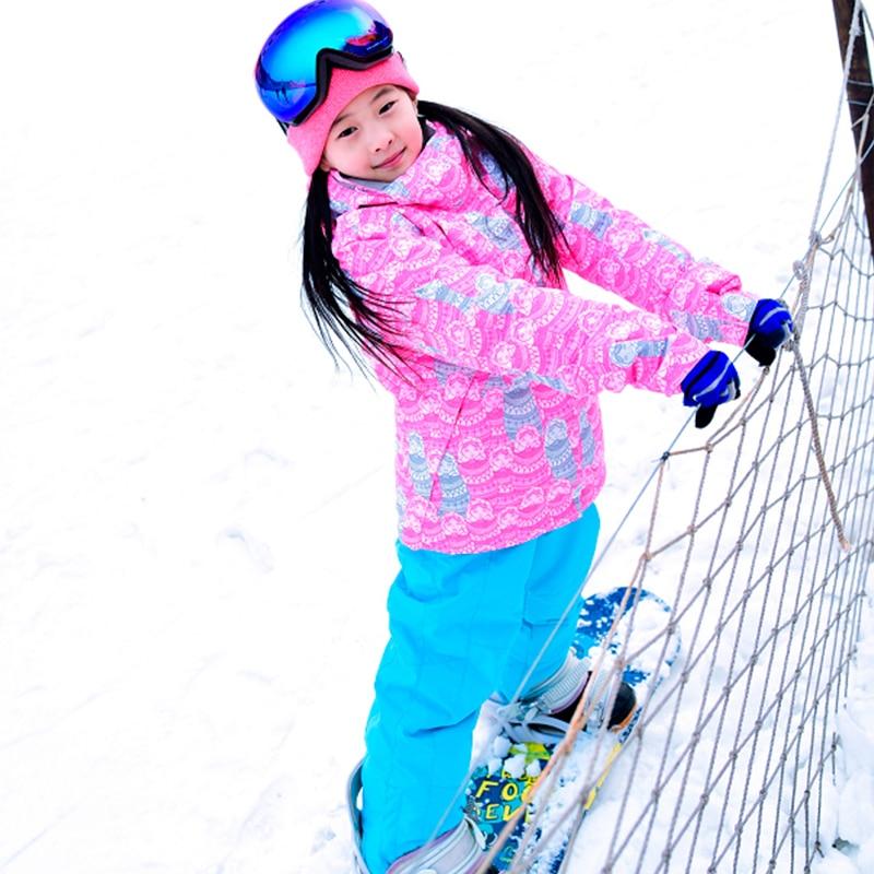 Prix pour Gsou Snow coupe-vent ski vestes filles d'hiver de neige costume enfant de vêtements de plein air fille ski-20-30degree pour 6-14ans vieux