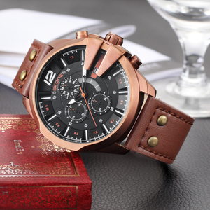 Image 1 - SKONEนาฬิกาผู้ชายหนังกันน้ำอัตโนมัติวันที่นาฬิกาข้อมือควอตซ์กีฬานาฬิกาชายChronographนาฬิกาRelogio Masculino