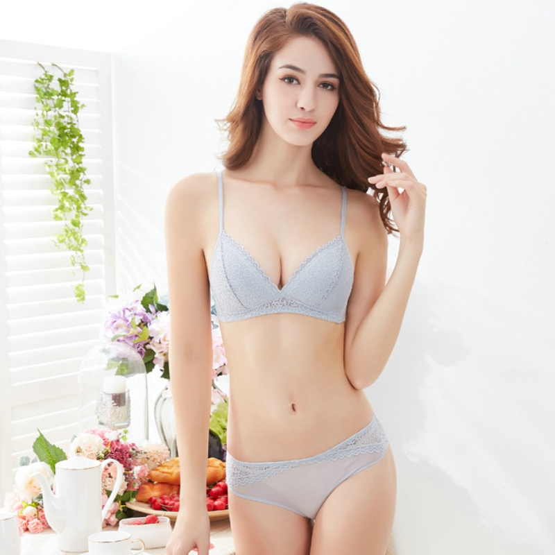 603e0c9ae8 Detail Feedback Questions about Japan Comfortable Sexy Bra Set Solid Color  Push Up Lace Thin Triangle Cotton Cup Underwear Women Lingerie Panties  Soutien ...