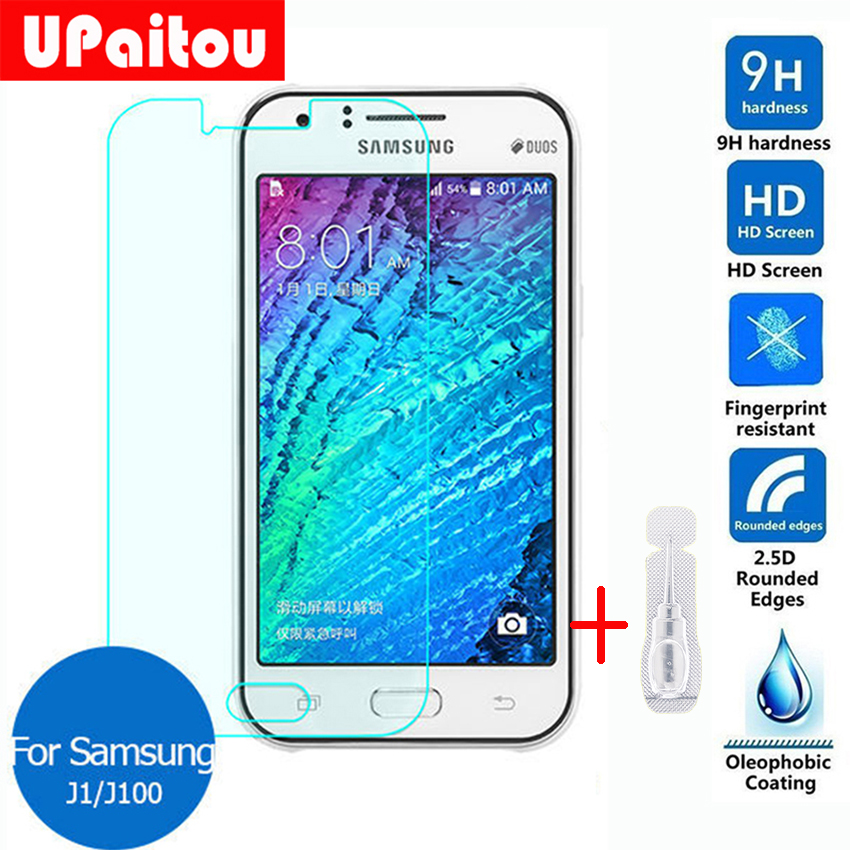 UPaitou For Samsung GALAXY J1 Screen Protector Tempered Glass 2.5 9h Protective Film on J100 Duos J100F J100FN J100VPP J100H Lte