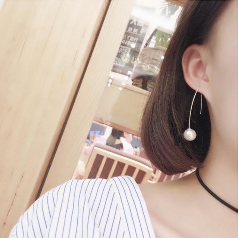 19 Fashion Big Gold Silver Pearl Drop Earrings Wedding Jewelry Tassel Statement Geometric Long Metal Earrings for Women 6