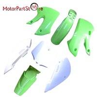 New Plastic Fender Farings Kit for Kawasaki KX65 KLX110 DRZ110 Pit Bike Dirt Bike Motorcycle Parts D20