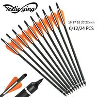 6 12 24pc16 17 18 20 22 Inch High Quality Carbon Arrow Replaceable Arrow Used For