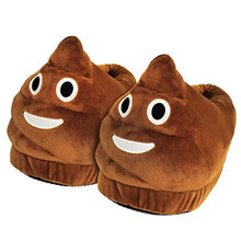 Cute Plush Cartoon Cotton Emoji Poop Slippers Funny Household Demand Shoes Surprise Gift for Friend Kid/Adult