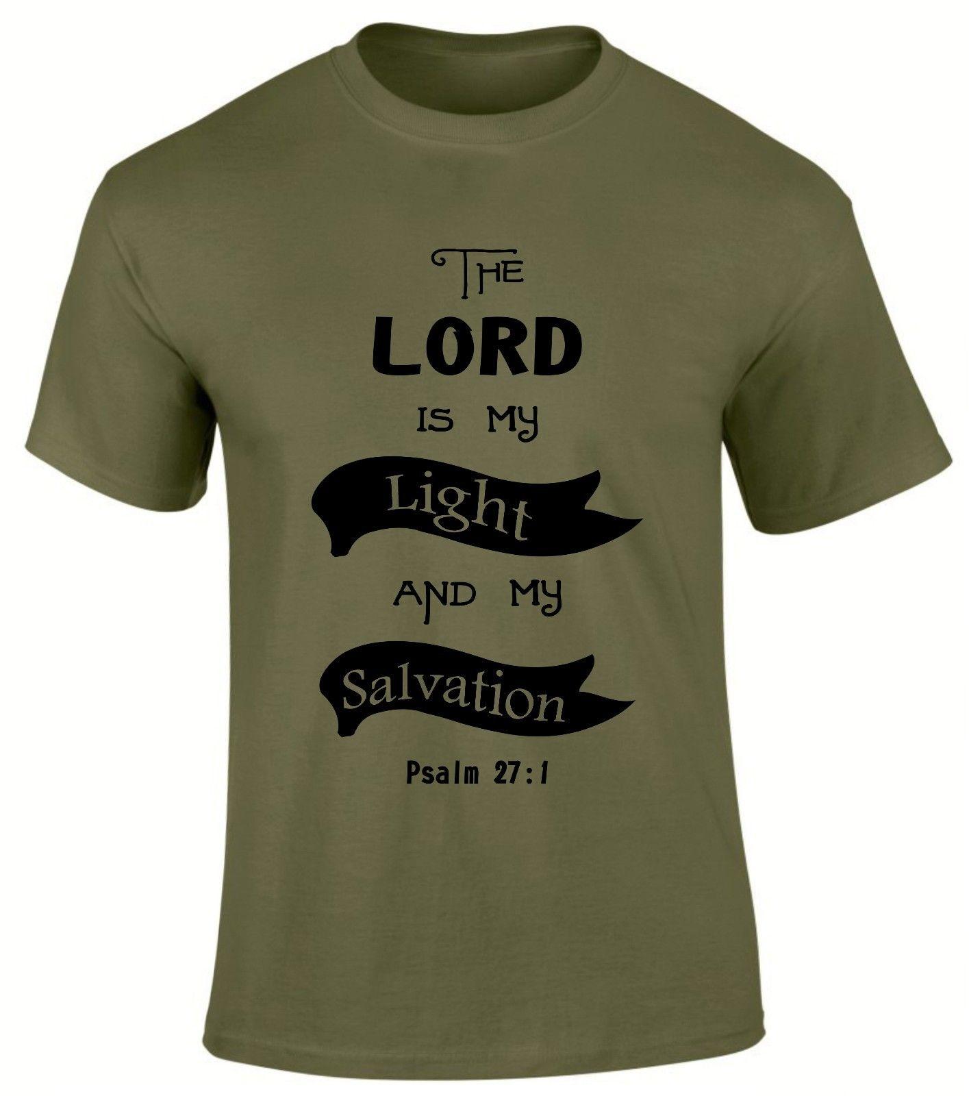 Господь свет мой и спасение Кристиан Евангелие churscripture Для мужчин футболка