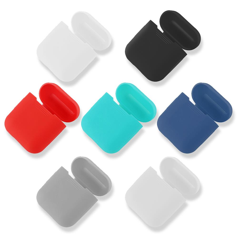 1PCS Silicone Case For Apple AirPods Bluetooth Wireless Earphone Case Protective Cover Skin Accessories For Apple Airpods Chargi