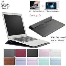 새로운 노트북 케이스 노트북 슬리브 커버 맥북 에어 13 프로 레티 나 11 12 2018 15 터치 바 xiaomi 프로 15.6 가죽 가방