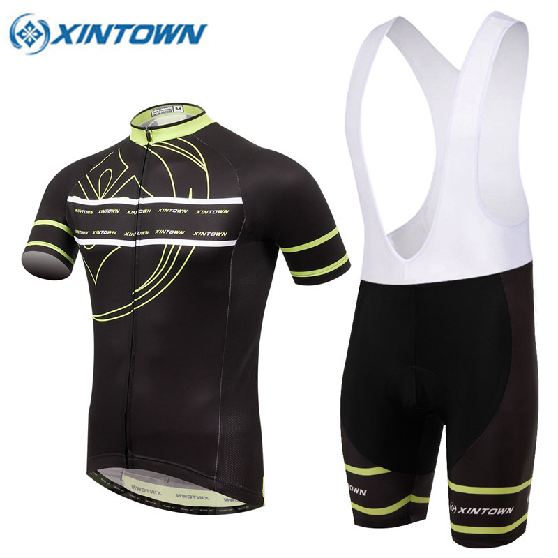 ФОТО XINTOWN Hot Sale Men's Outdoor Cycling Clothes / Professional Cycling Short Shirt Bike Jersey Set Free Shipping